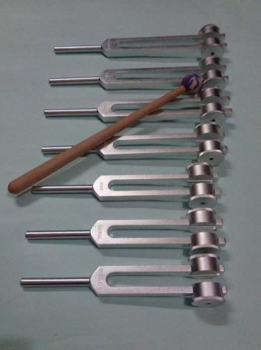 7 Chakra Healing Tuning Forks Weighted with Mallet