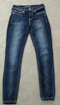 Express jeans size 0 regular legging mid-rise Mia dark wash great condition - $18.70