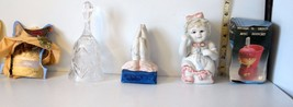 Mixed Lot 5 Cat Hat, Glass Bell, Ceramic Praying Hands & Girl, Toothbrus... - $13.95