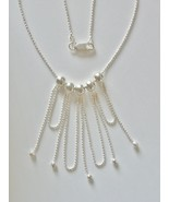 """18"""" 1.5 mm Sterling Silver Faceted Bead Chain w/ Hanging Beads and Loops - $72.00"""