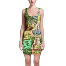 Disneyland Colorful Map Bodycon Dress - $30.99+