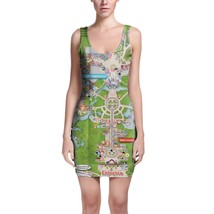 Magic Kingdom Map Disney Bodycon Dress - $30.99+