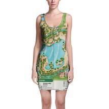 Typhoon Lagoon Map Disney Bodycon Dress - $30.99+