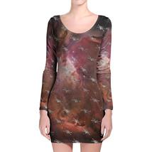 X Wing Star Wars Galaxy Pattern Longsleeve Bodycon Dress - $36.99+