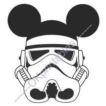 Stormtrooper Mickey Disney Star Wars- Stormtrooper Mickey ears Printable... - $4.00