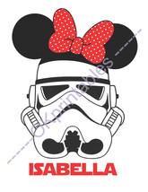 Stormtrooper Minnie Disney Star Wars- Stormtrooper Minnie ears Printable... - $5.00