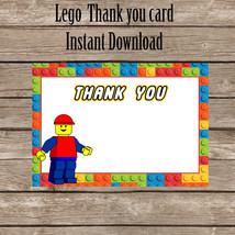 Lego thank you card, Lego Thank you. Digital File. Printable. Lego Birth... - $4.00