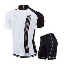 ZEROBIKE® Men's Short Sleeve Breathable Cycling Jersey Sports Clothing 3D... - $30.68