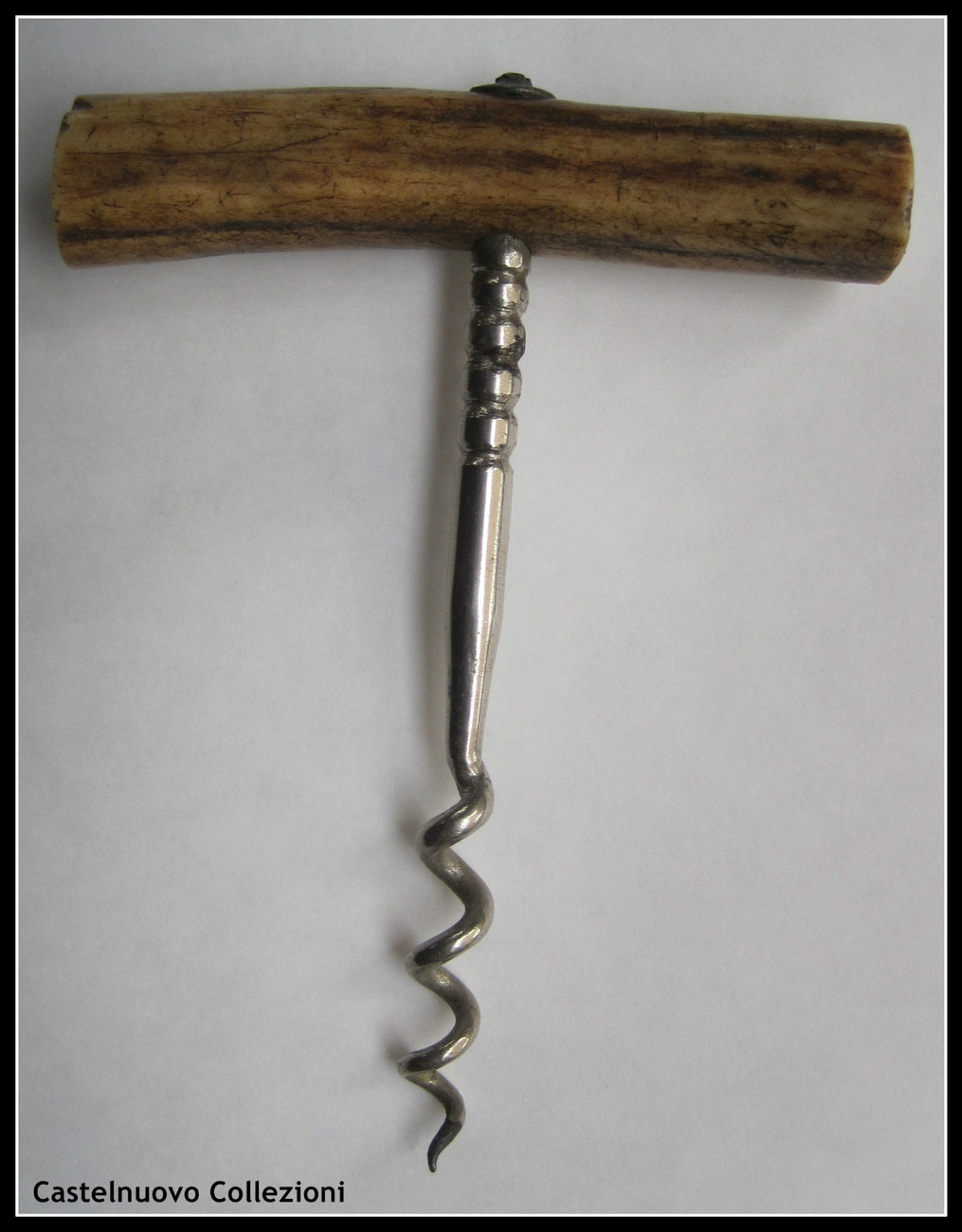 Vintage/Antique Antler Stag Horn Handle Corkscrew Tire Bouchon Korkenzieher
