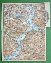 1899 MAP ORIGINAL Baedeker - Italy Lago Maggior... - $6.44