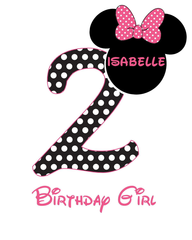 Minnie Mouse Birthday Iron On Transfer. Digital File 24 Hr Turnaround! Minnie Ts