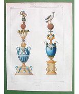 ARCHITECTURE PRINT : Faience Crown Posts Finial... - $33.66