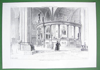 ARCHITECTURE PRINT : ITALY Interior of Verona Cathedral