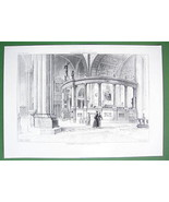 ARCHITECTURE PRINT : ITALY Interior of Verona C... - $33.66