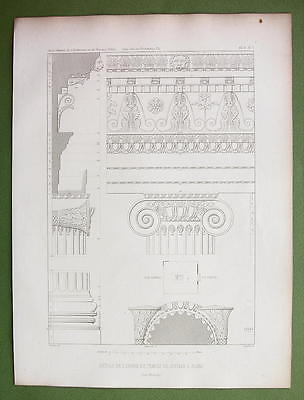 ARCHITECTURE PRINT : Turkey Temple of Jupiter at Aizani Ionic Details