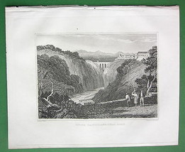 ITALY Civita Castellana - 1830 Antique Print Engraving - $9.84