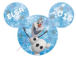 Olaf Disney Frozen Mickey Head Printable Iron On Transfer- DIY Disney Fr... - $4.00