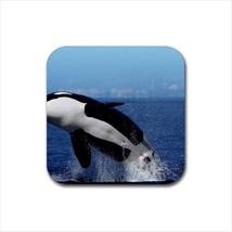 Killer Whale Orca Black Fish Non-Slip Coaster Set - $6.74