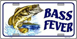 Bass Fever Fishing License Plate Tag Sign - $19.33