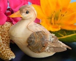 Duck Duckling Bird Miniature Handcrafted Tree Bark Wings OOAK Mallard - $14.95