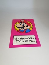 "Vintage Super Mario Brothers Greeting Card Nintendo 1989 ""Friends Who St... - $9.99"