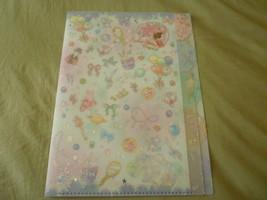 RARE Sailor moon crystal jumbo file 5 pocket folder holder plastic clear... - $85.00