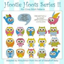 Hootie Hoots Series II owl cross stitch chart Pinoy Stitch - $10.80
