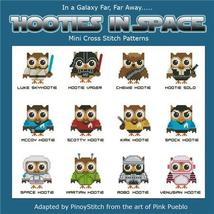 Hooties In Space owl cross stitch chart Pinoy Stitch - $13.50