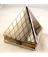 Limoges Box - Silver Egyptian Pyramid with Knee... - $110.00