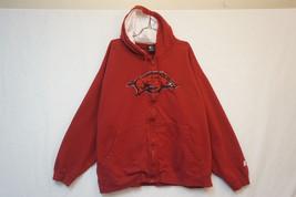 Arkansas Razorbacks Full-Zip Hoodie, Red, Men's 3XL 06506 - $33.00