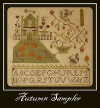 Autumn Sampler cross stitch chart Niky's Creations - $11.70