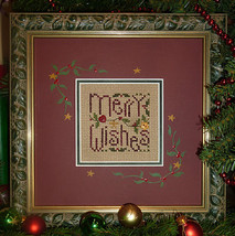 Merry Wishes christmas winter holiday cross stitch kit Shepherd's Bush - $20.00