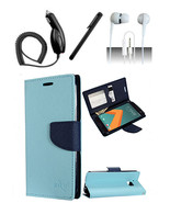HTC 10 Teal Blue Flap Pouch Luxury Magnetic Wallet Case Cover - $11.99