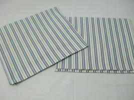 Pottery Barn 2 Standard Pillow Shams Flagstone Gray White Stripes - $19.75