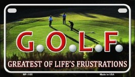 GOLF Greatest of  Life's Frustrations License P... - $19.33