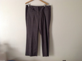 Apt. 9 Women's Plus Size 18 Dress Pants Slacks Brown Tweed-Look Stretchy... - $49.49