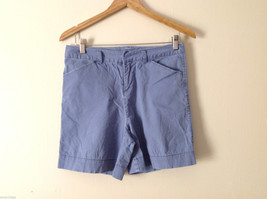 Cuffy's of Cape Cod Women's Size 6 Chino Shorts Cornflower Blue Summer Cotton