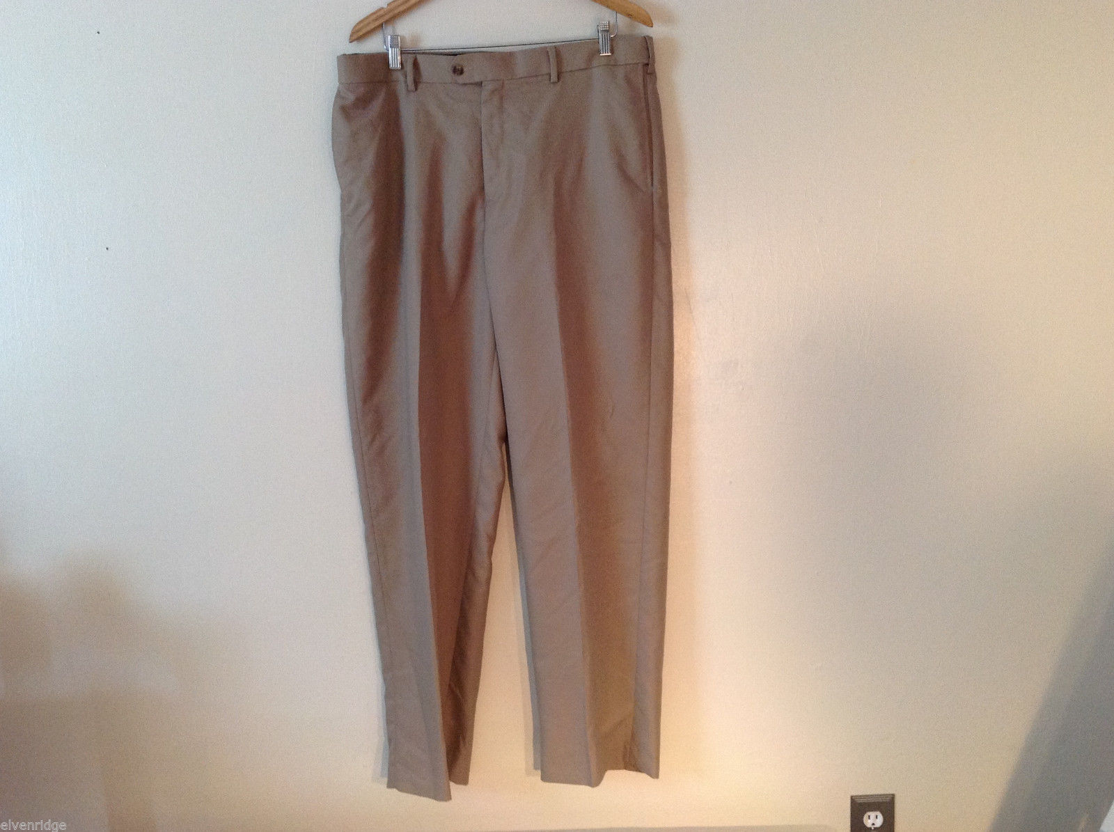 Croft & Barrow Men's Size L 38/34 Dress Pants Slacks Straight Leg in Beige Brown