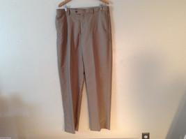 Croft & Barrow Men's Size L 38/34 Dress Pants Slacks Straight Leg in Beige Brown