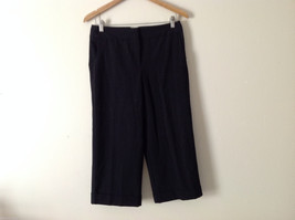 "George Women's Size 6 Dressy Capris Stretchy Black 21"" Inseam Cropped Pants"