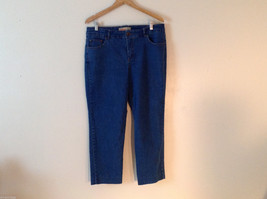Just My Size Women's Plus Size 16 Jeans Medium Blue Wash Crop Ankle Straight Leg