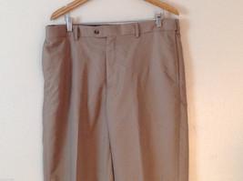 Croft & Barrow Men's Size L 38/34 Dress Pants Slacks Straight Leg in Beige Brown image 2