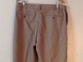 Croft & Barrow Men's Size L 38/34 Dress Pants Slacks Straight Leg in Beige Brown image 5