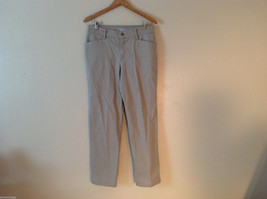 Lee Women's Size 12 Medium Relaxed Fit Jeans Khaki Beige Twill Straight Leg Cut