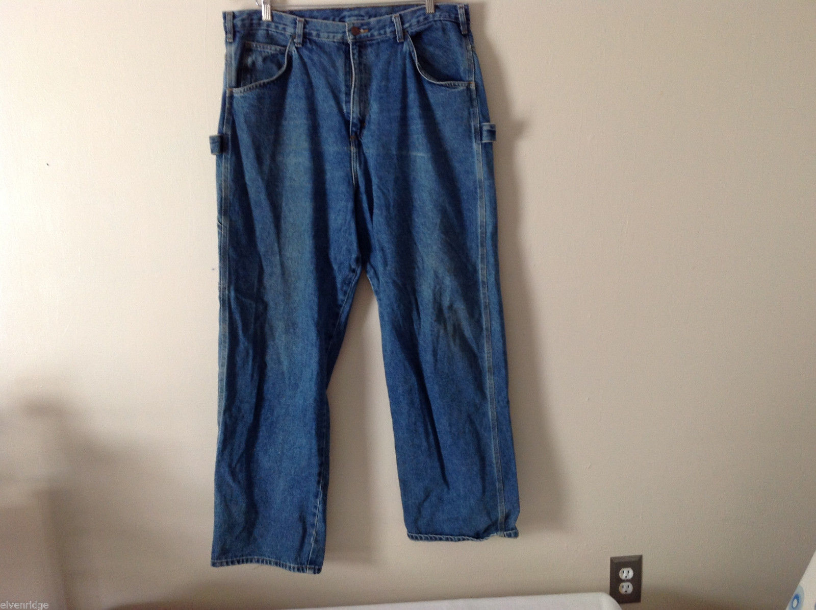 WearGuard Men's Size 40/32 US L Carpenter Denim Jeans Side Loop Medium Blue Wash