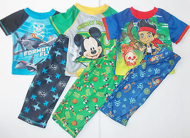 Mickey Mouse Planes Jake the Pirate Toddler Boys 2pc Pajama Sets Many Si... - $10.39