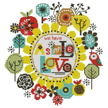 Primary image for We Have Simple Love cross stitch chart Pinoy Stitch