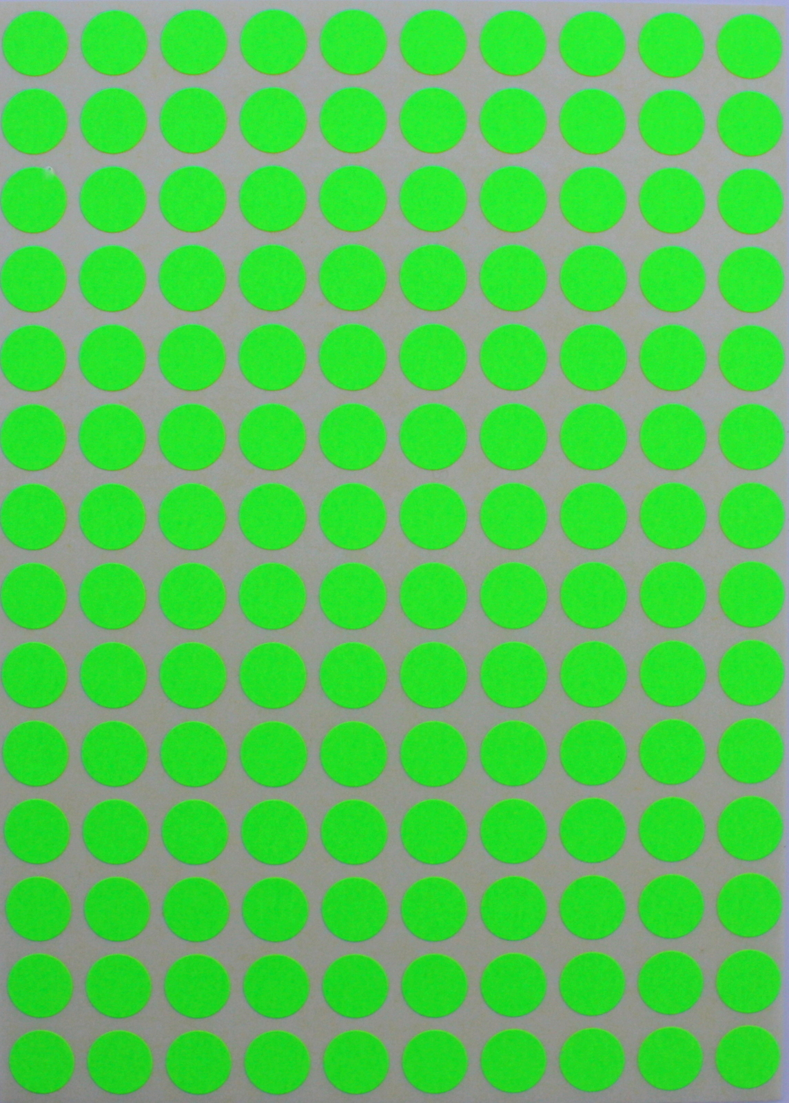 Color Coding Labels 3 8 Quot Round 10 Mm Dot Stickers0 375 Inch Rounds Neon Green Other Shipping