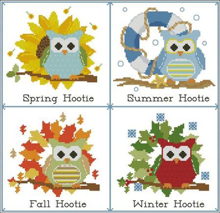 Primary image for Hooties Seasons Of The Year owl cross stitch chart Pinoy Stitch