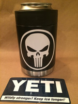 YETI Rambler Colster in Satin Black with White PUNISHER Decal - $43.89